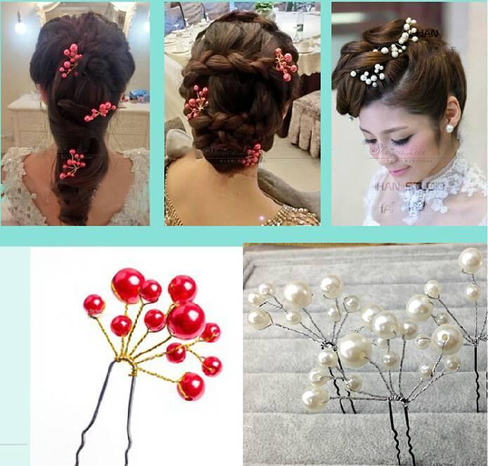 Grosshandel Kopfschmuck Haar Blume Koreanische Schmuck Rote Und Weisse