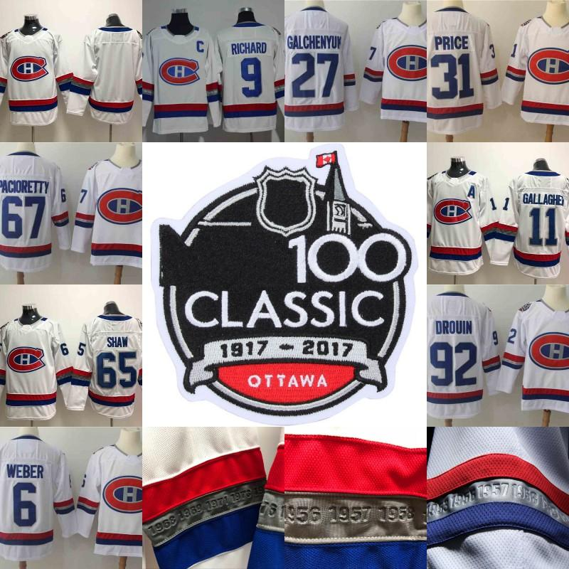757252a5c 2018 Montreal Canadiens 100 Classic Jersey Shea Weber Maurice ...
