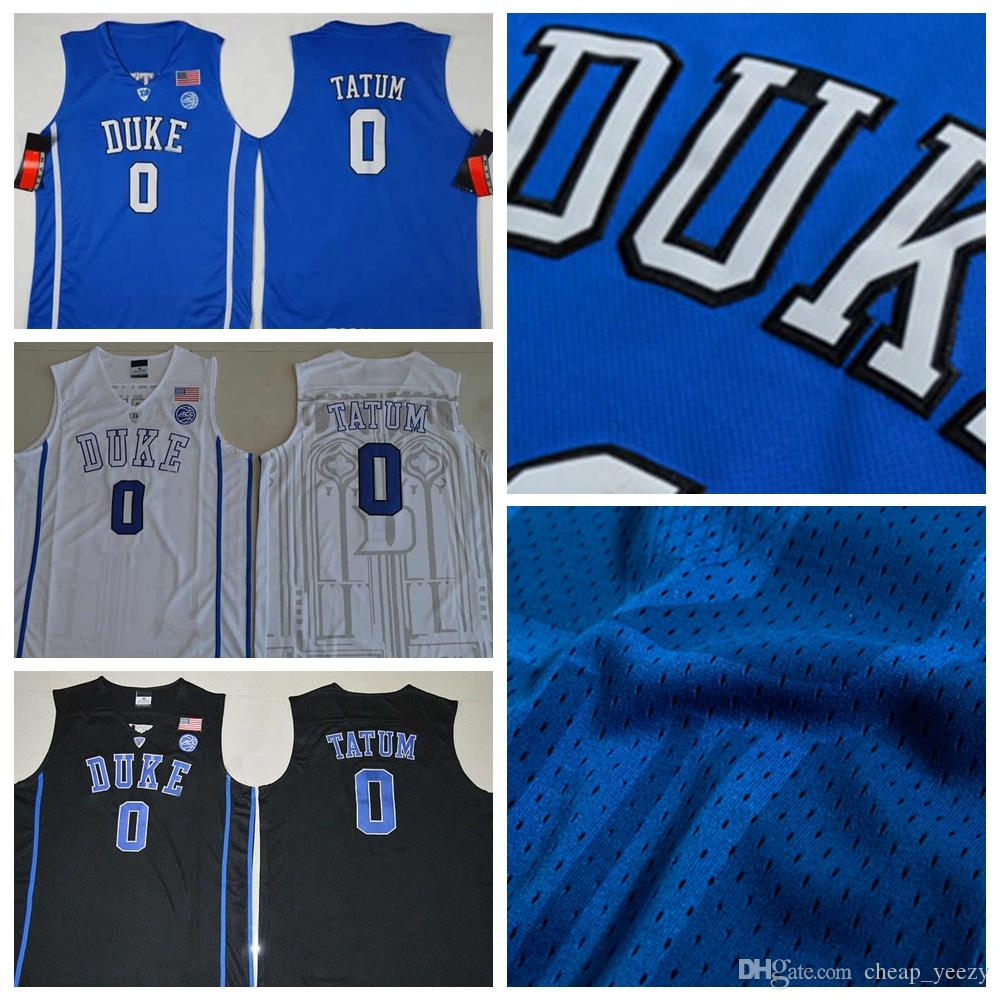 Top Quality Duke Blue Devils NCAA  0 Jayson Tatum Jersey Blue White ... 522832c27