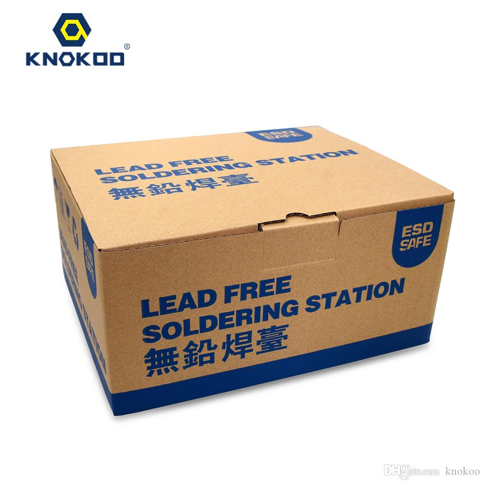 KNOKOO Yüksek Kaliteli 70W FX888D Dijital Display ile Serbest Güvenli Smd Tamir Lehimleme İstasyonu Kurşun