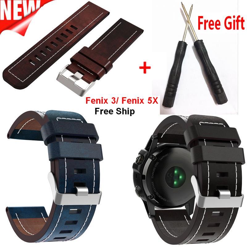 Acquista Garmin Fenix 5x Cinturino Orologio Cinturino In Pelle Da
