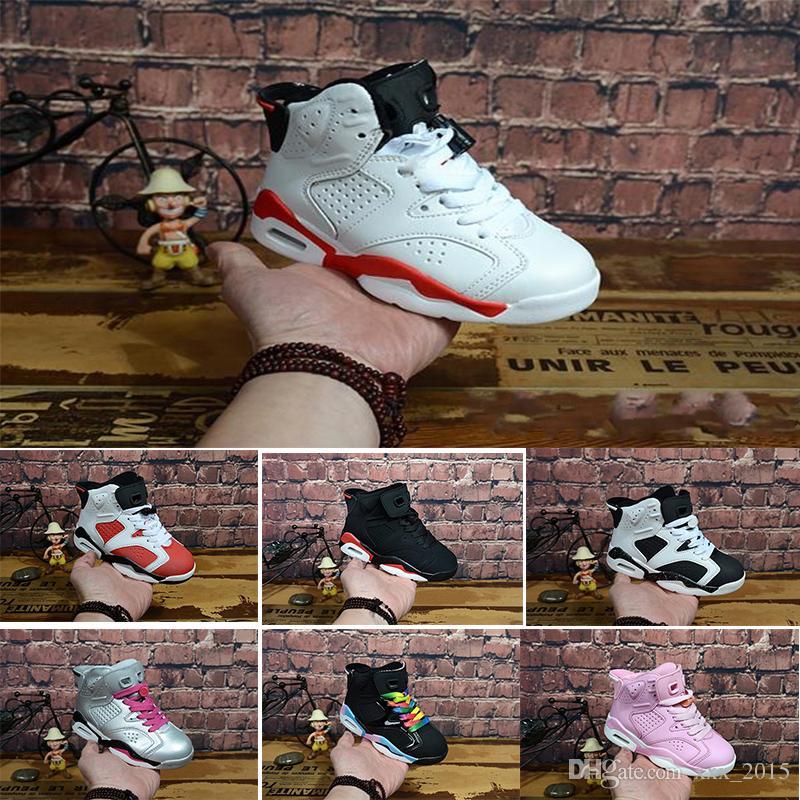 aff6256b0 ... Niños 6 VI Zapatillas Nike Air Max Jordan 6 Retro De Baloncesto Niños  6s Deportes Niños Niñas Jóvenes Bebé Zapatillas De Deporte Atléticas Barato  En ...