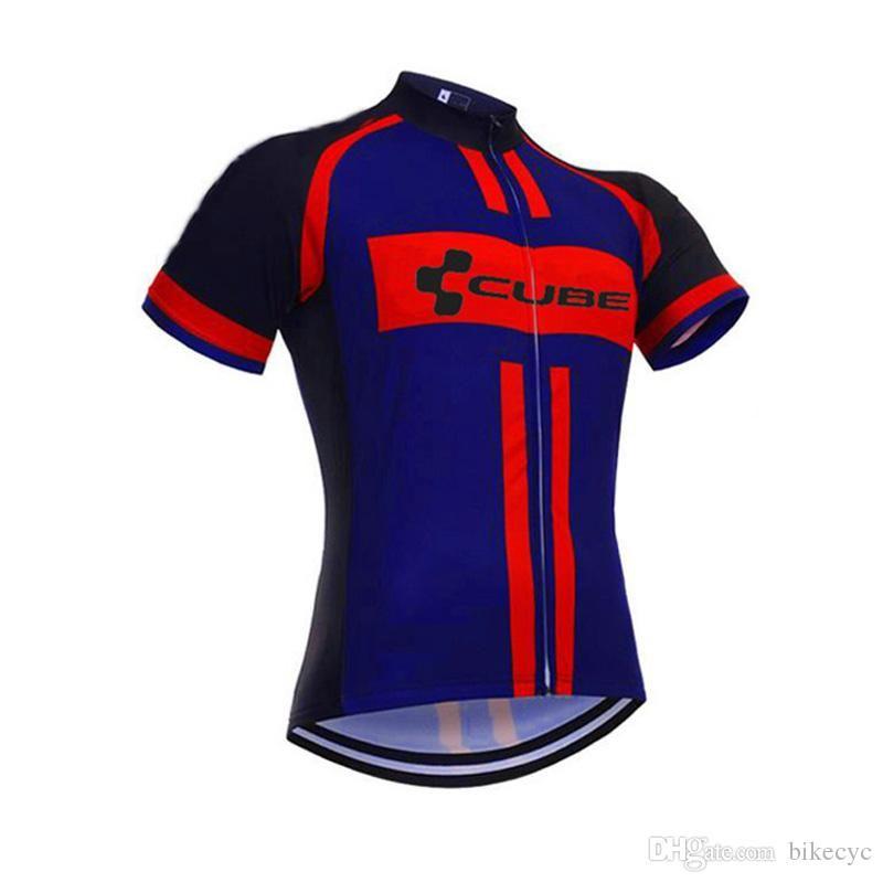 Compre Cube Equipe Ciclismo Mangas Curtas Jersey Camisa De Ciclismo 2018  Atacado New Homens Bicicleta Curta Desgaste C1028 De Qixingfu2012 2b3c69cbb026b