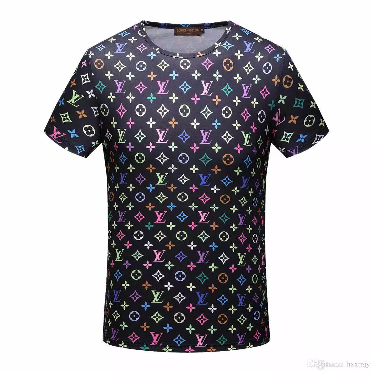2018 Men Printed T Shirt Hot Sale Graphic Print Round Neck Short