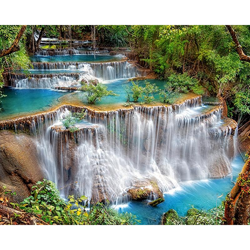 550e1e53c2 2019 Waterfall Landscape Painting 5D Full Drill Diamond Painting Home Decor  Diamond Mosaic Cross Stitch Embroidery DIY Handwork From Meetsunshine, ...