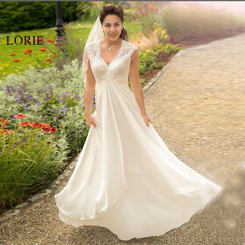 compre lorie vestido de novia para mujer embarazada con cuello en v