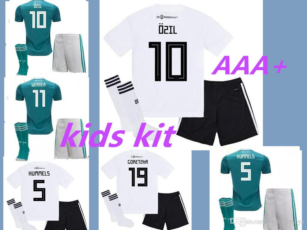 da9768d6c7a 2019 MULLER OZIL 2018 WORLD CUP Kids Kits Away Soccer Jersey DRAXLER KROOS  HUMMELS Jerseys Football Kit Shirt Camiseta Alemania KIMMICH GeRMany From  ...