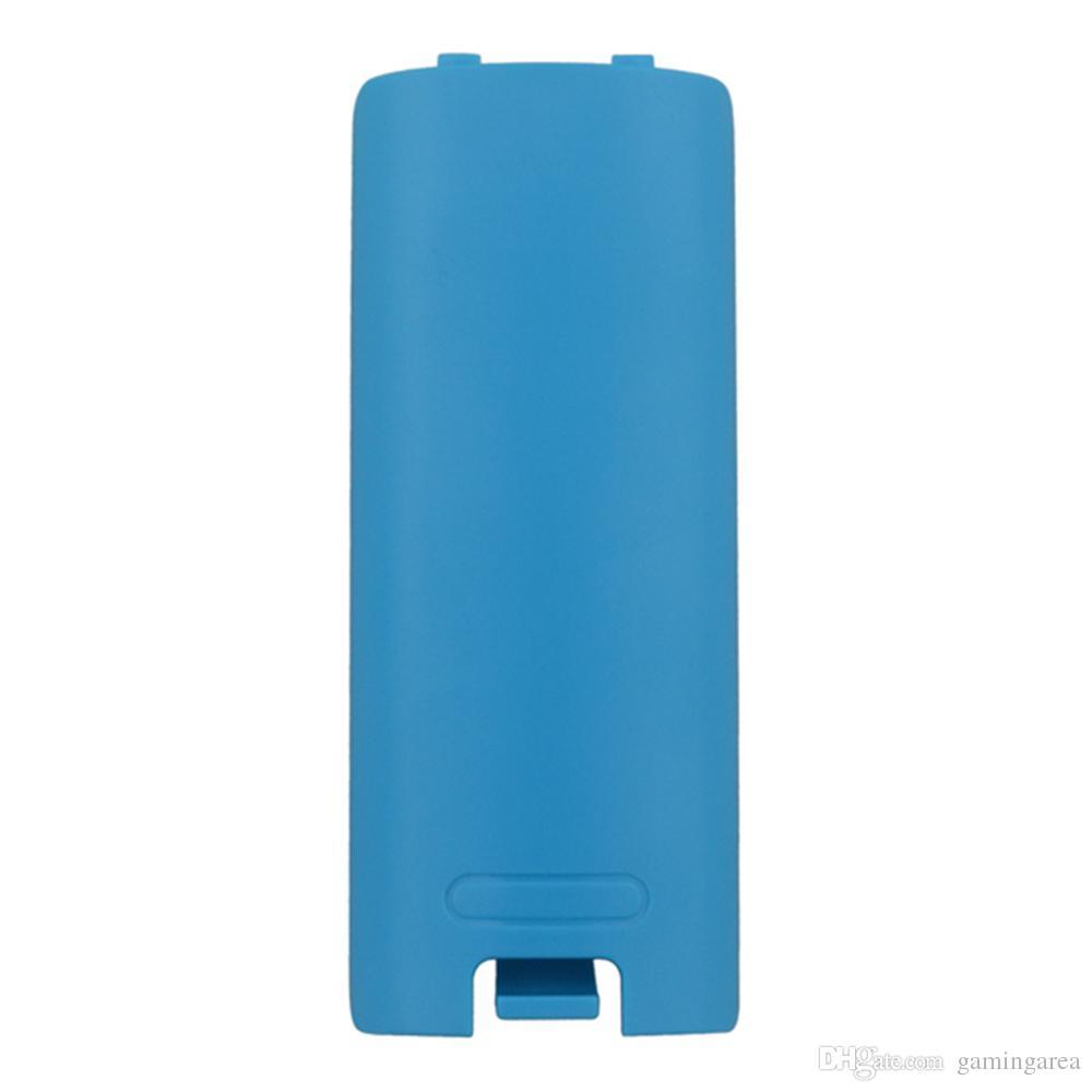 Renkli 5 Renkler pil Kutusu Wii uzaktan kumanda için arka kapı kabuk kapak Kapak DHL FEDEX EMS ÜCRETSIZ KARGO