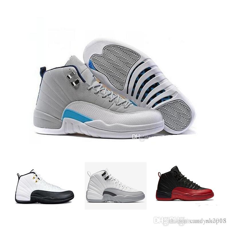 87914c37881 Mens Basketball Shoes Sneakers 12 12s White Gym Red Gamma Blue Taxi ...