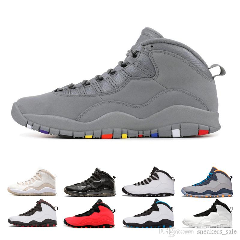 fcdf84d17d00f3 2019 Cool Grey Steel Grey 10 10s Men Basketball Shoes Designer Mens 10  Designer Bobcats I M Back Westbrook Cement GS Fusion Red Sports Sneakers  From ...