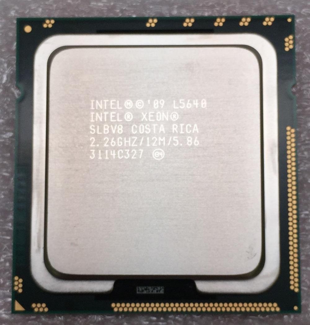2018 Intel Xeon L5640 2 26GHz 12MB 5 86 GT/s SLBV8 LGA1366 Server CPU