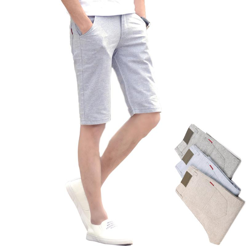 3ff2a02ae5e 2019 2018 Summer Mens Shorts Men Casual Short Pants Male Knee Length  Straight Linen Cotton Boardshorts Breathable Male Casual Shorts From  Beasy114