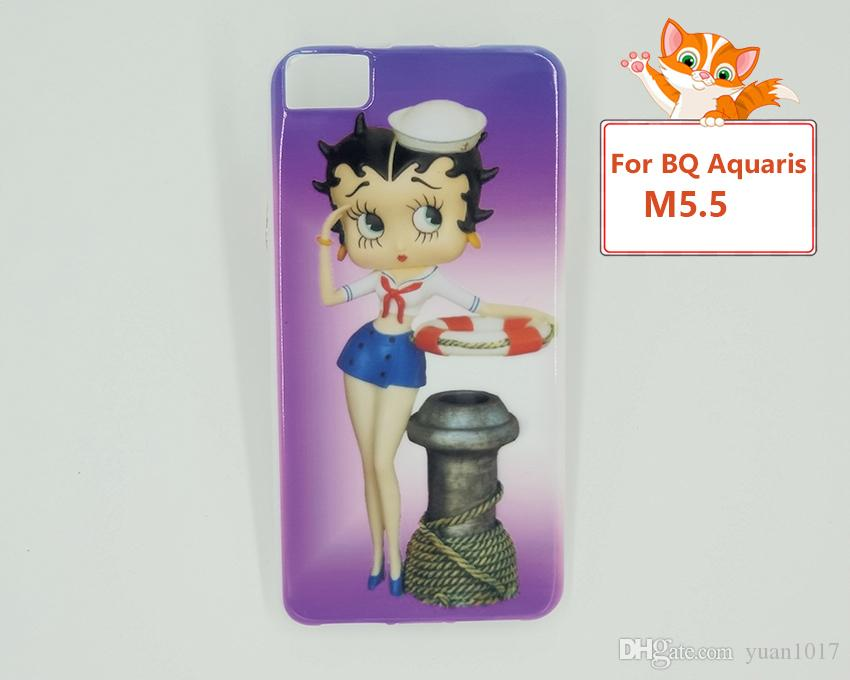 High quality Soft Mobile Phone Cases For BQ Aquaris E5 M5 X5 X5 PRO X5 PLUS M5.5 U2 U2 lite Sailor Moon Painted fashion TPU Silicone cover