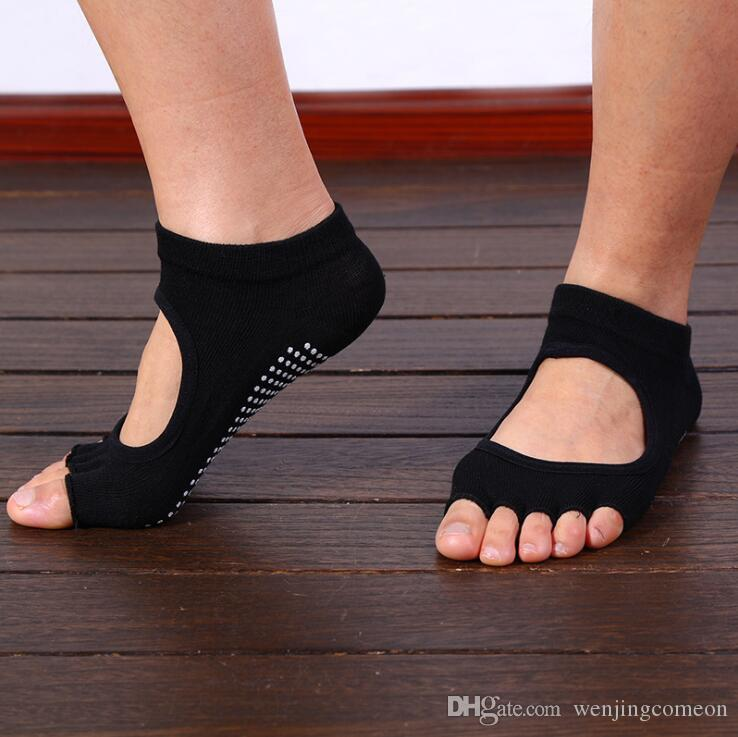 i Punta Calzini Menwomen Terry Backless Asciugamano Quick-Dry Anti-slip Pilates Pilates Balletto Buona Grip Calze in silicone invisibile Calzini bambini