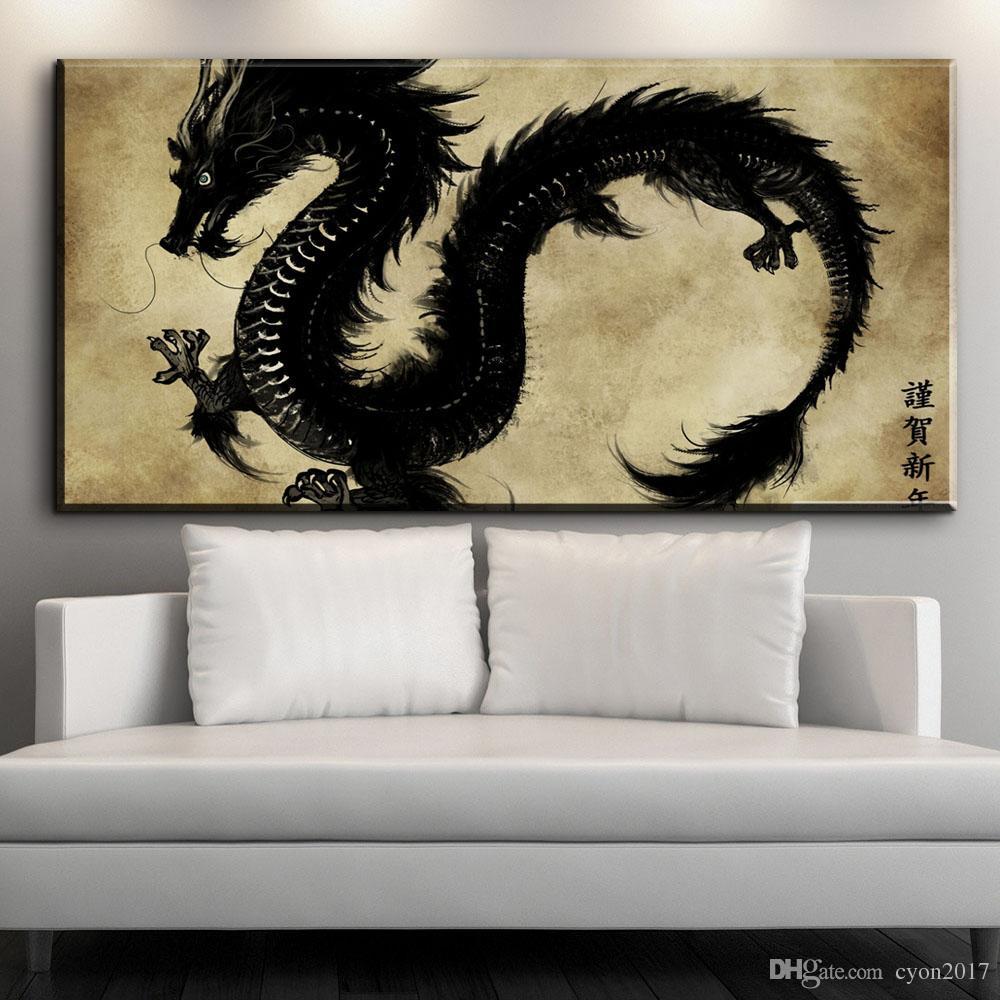 Großhandel Moderne Leinwand Wandkunstwerke Chinesischen Drachen ...