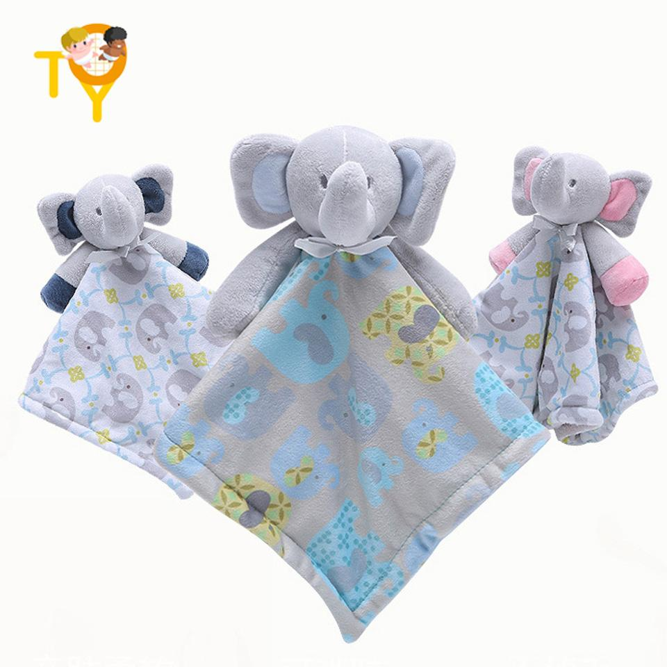 Lovely Baby Cute Elephant Soft Plush Newborn Sleeping Soothing Towel Accompany Appease Children Comfort Toy Dolls