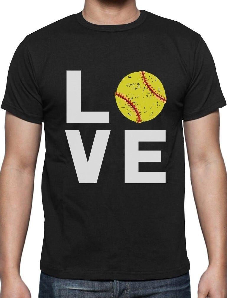 497a62cf Love Softball Gift For Softball Fans T Shirt Softball Player Funniest Tee  Shirts Fun Tee Shirt From Yuxin005, $13.8| DHgate.Com