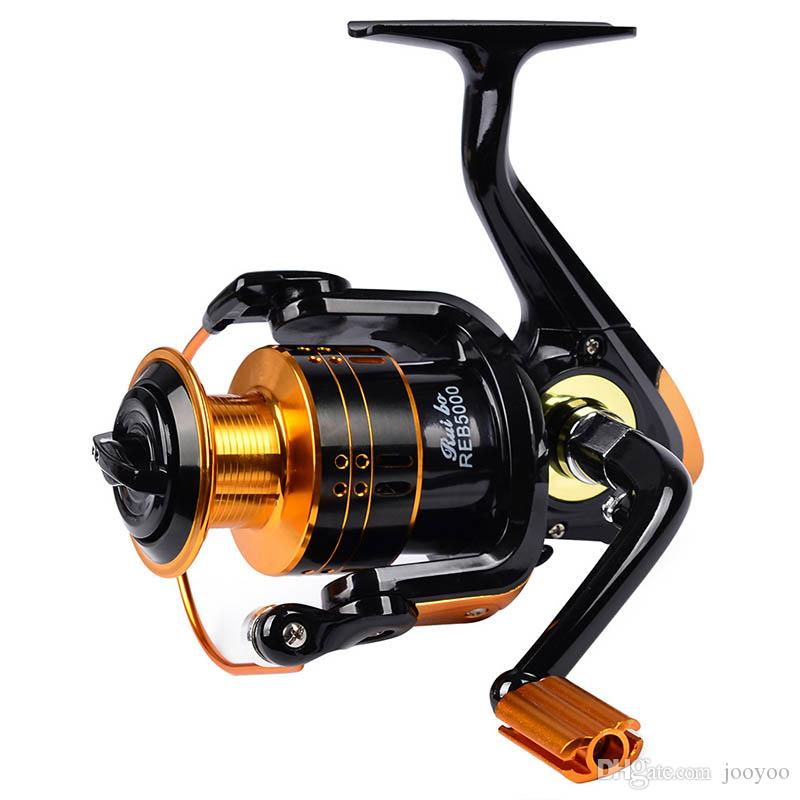 12BB Metal Spool Rotating Fishing Reel 3000 4000 5000 Series Gear Ratio 5.2:1 Eva Handle Right Hand Left Hand Replacement