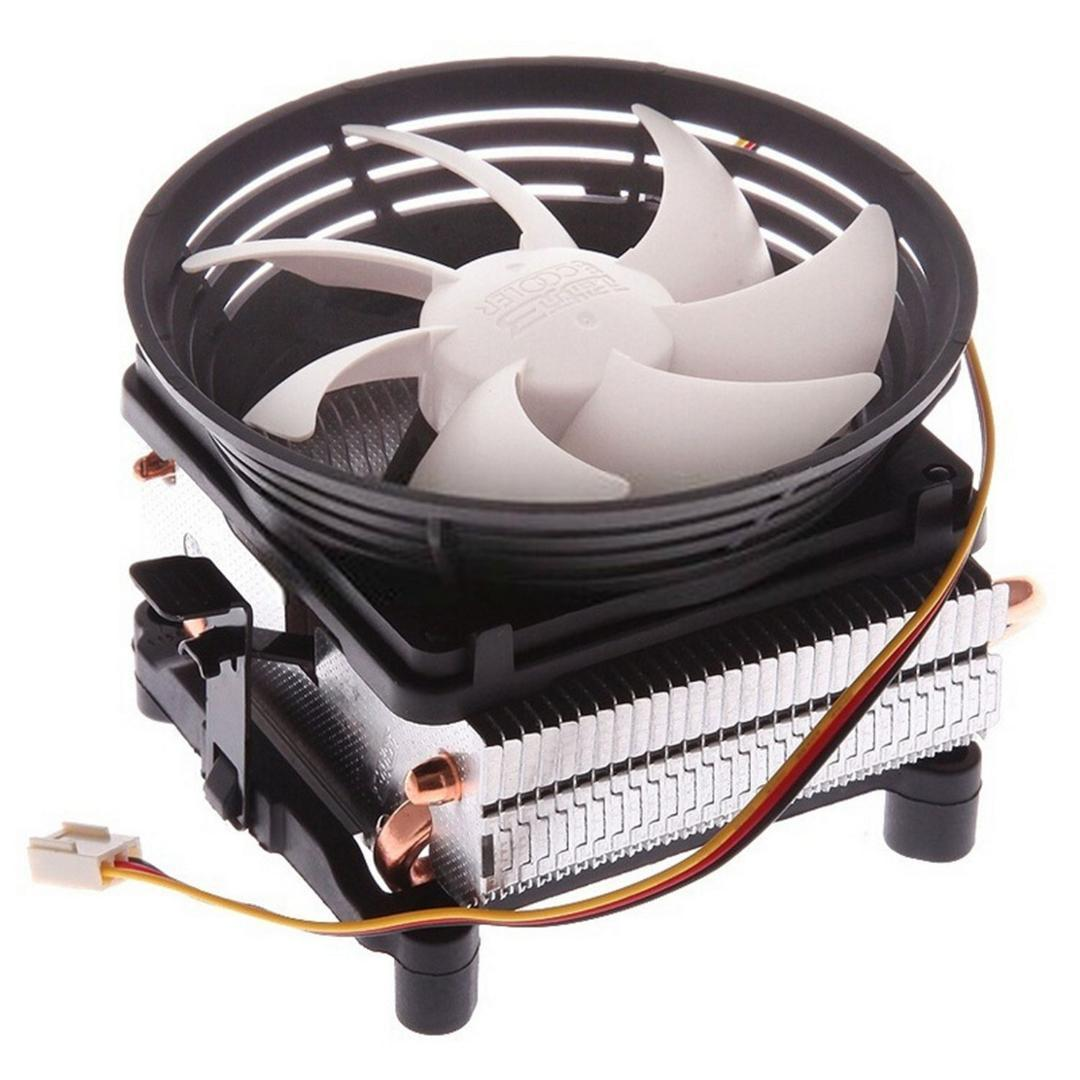 PCCOOLER Seven-spot  V4 cpu radiator Full copper 2 heat pipe For AMD/intel cpu silent fan