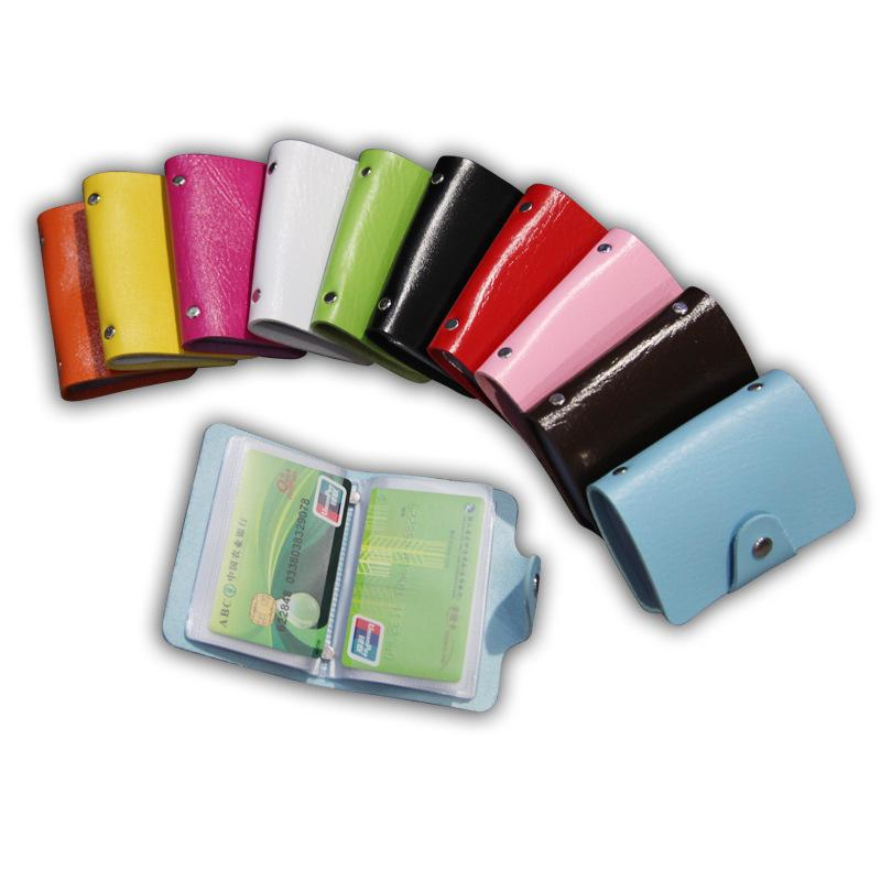 Fashion Business Bank Credit Card Holder Bags Leather Strap Buckle ...