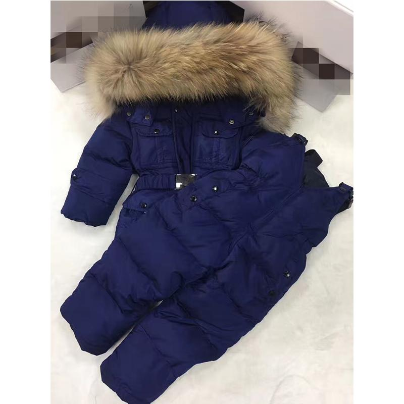 1343787a0 Baby Girl Clothes Set Winter Overalls For Girls Warm Hood Children'S Down  Jacket Winter Jacket For Boy Toddler Girl Clothes 0-8Y