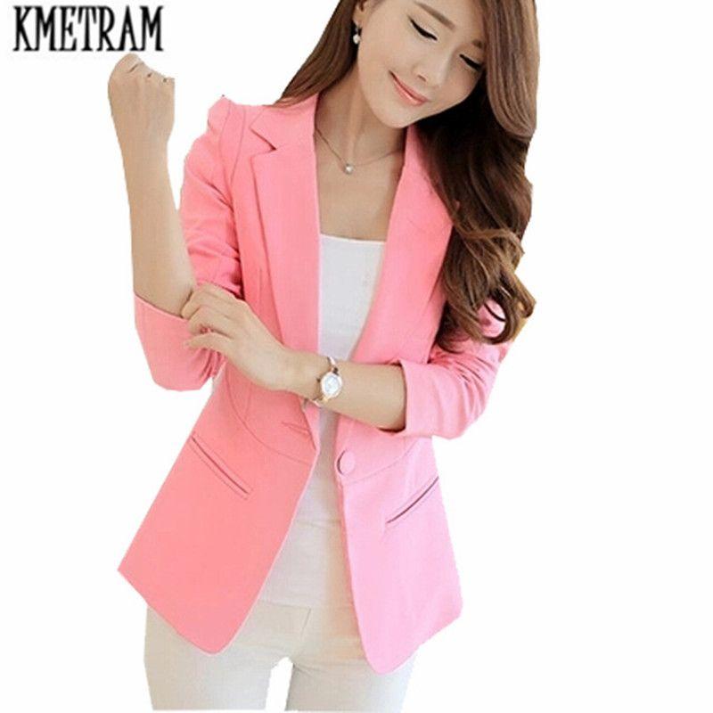 97cca804890 2019 Formal Jackets Women Long Blazers For Ladiespink Suit Jacket ...