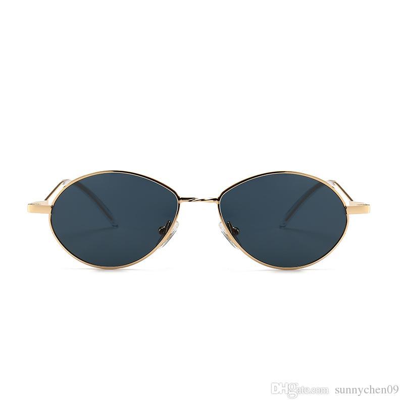 a88ca2b31e 2018 New Brand Designer Vintage Oval Sunglasses Women Men Retro Clear Lens  Eyewear Sun Glasses For Female UV400 Electric Sunglasses Fastrack Sunglasses  From ...
