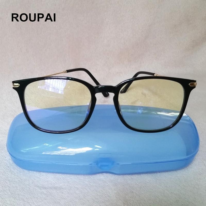 1e33e52f68 2019 ROUPAI Computer Glasses Anti Blue Light Reading Eyeglasses Myopia Frame  Protection Gaming Goggles For Men Women 5008 From Heathere
