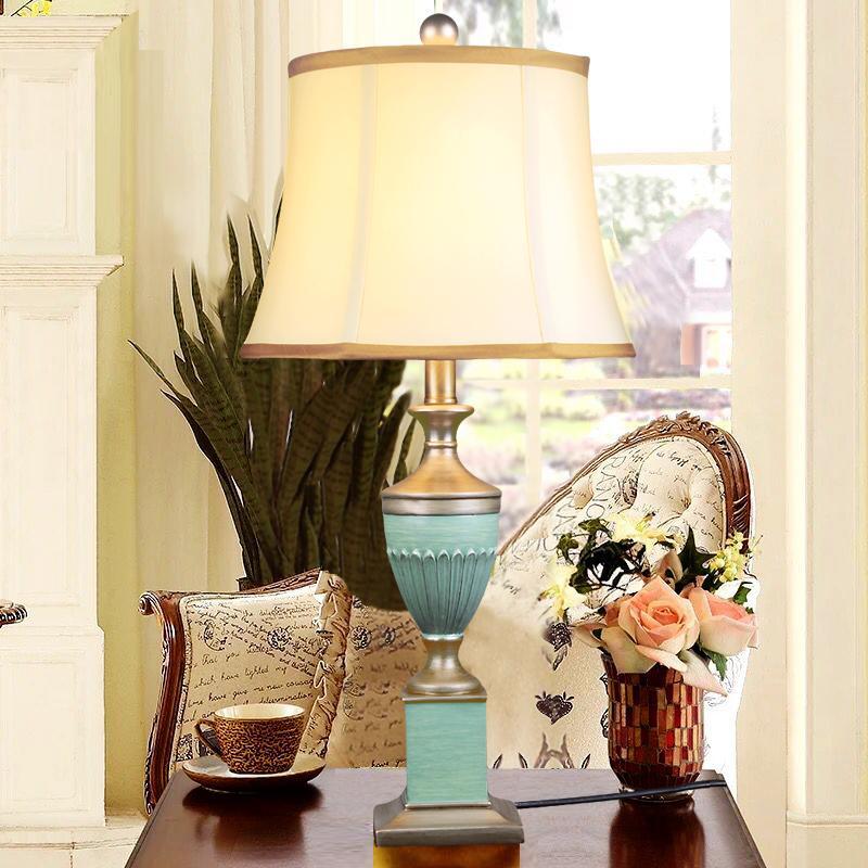 Résine Chambre Chevet Bureau Salon Moderne Art Déco Lampe Table Pour De Bleu Sjc354RLAq