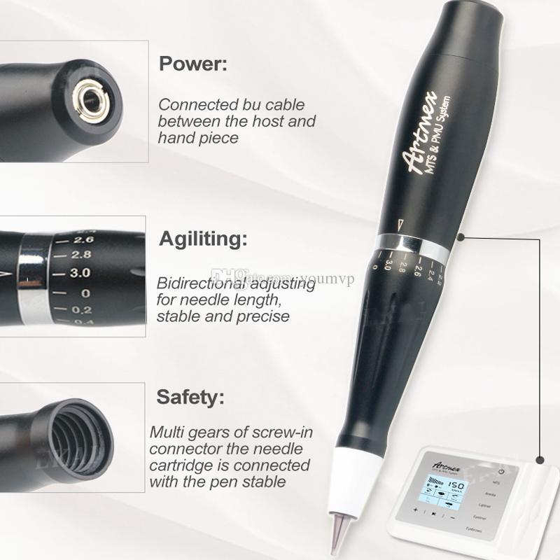 مكياج Artmex V9 الدائم الرقمية الحاجب الشفاه Eyeline MTS / PMU الرقمية المهنية الدائم الوشم آلة دوارة القلم