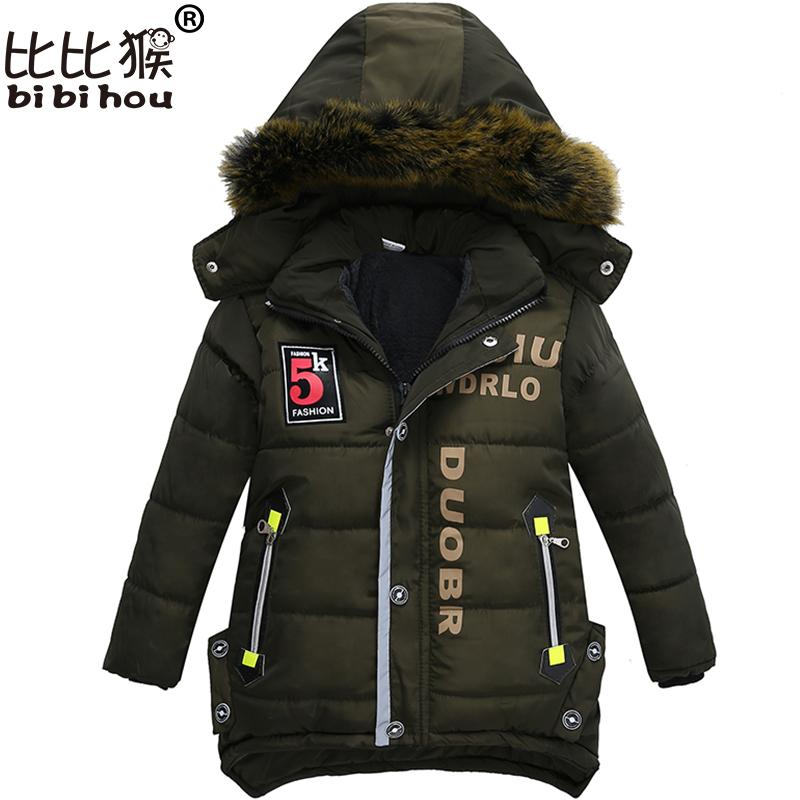 34bd830ca Bibihou New Boys Parka Snowsuit Children Jackets Warm Boys Clothes ...