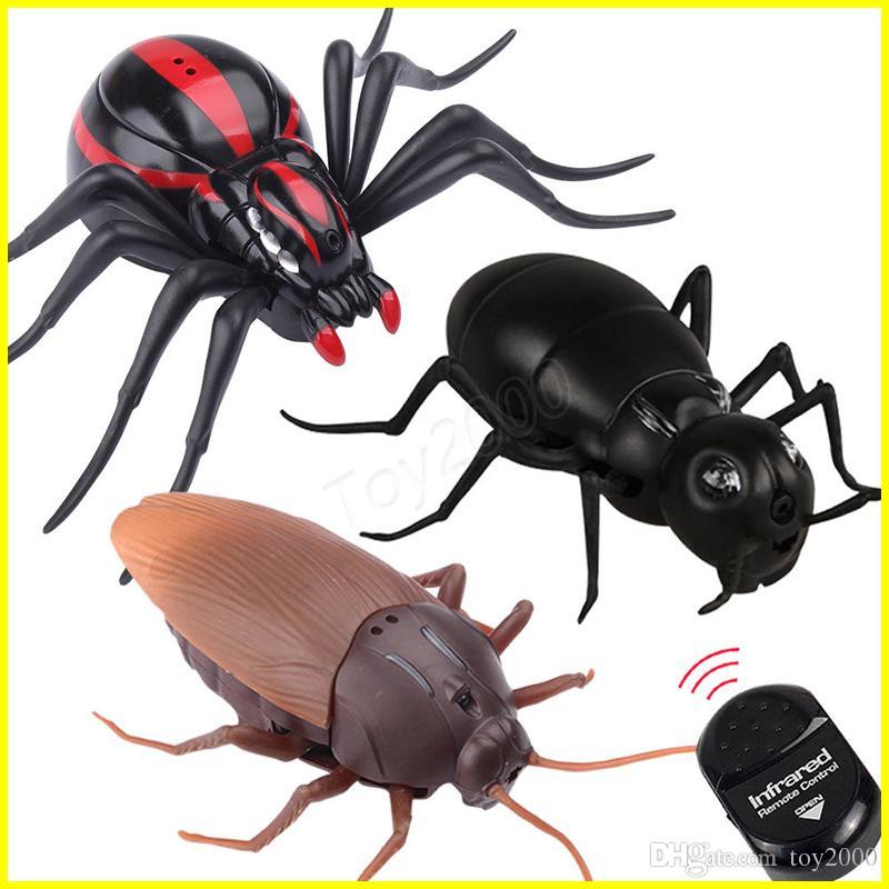 Infrarroja Juguete Truco Control Practique Rc Araña Fake Hormiga Para Mock Joke Cucaracha Party Bichos Animal De Remoto 3Lj4R5A