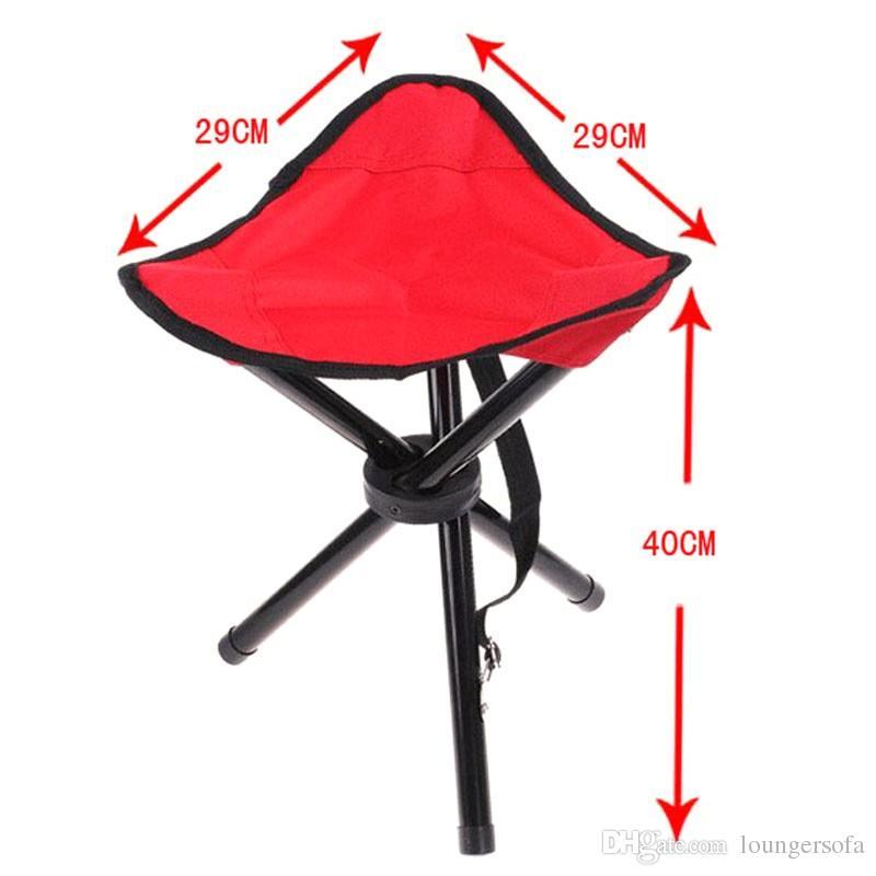 Taburete de tres patas para Outdootr Camping Senderismo Silla plegable Asiento Fácil de transportar Espesar Taburetes de pesca Venta directa de fábrica 9 en B