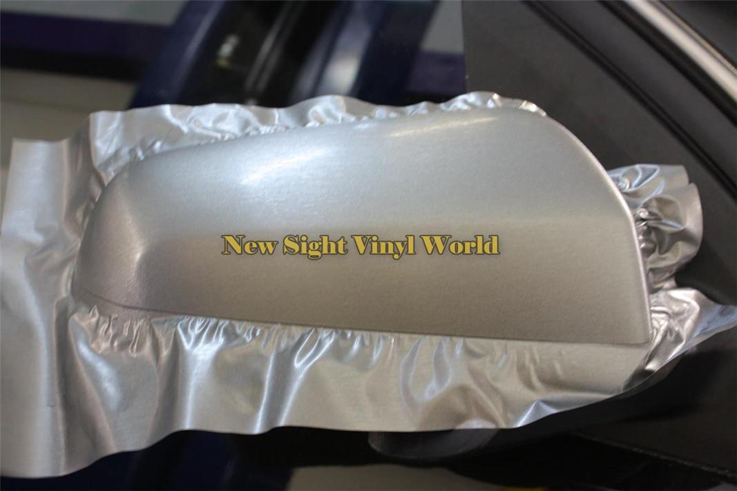 Pellicola di alluminio spazzolato d'argento di alta qualità del vinile la bolla d'aria libera del film di avvolgimento dell'automobile Formato: 1.52 * 30M / Roll