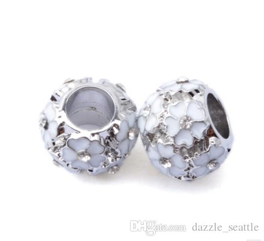 Wholesale Spring Blossom Charm Sterling Silver European Charms Bead ... 6ae2af1294b7