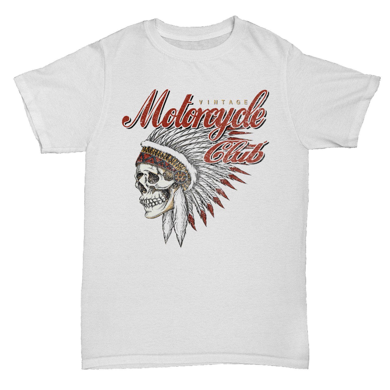 MOTORCYCLE CLUB INSPIRED BIKER SKULL INDIAN CULT 90S HOT ROD 2 T Shirt Men  s Clothing T-Shirts Tees Men Hot Cheap Short Sleeve