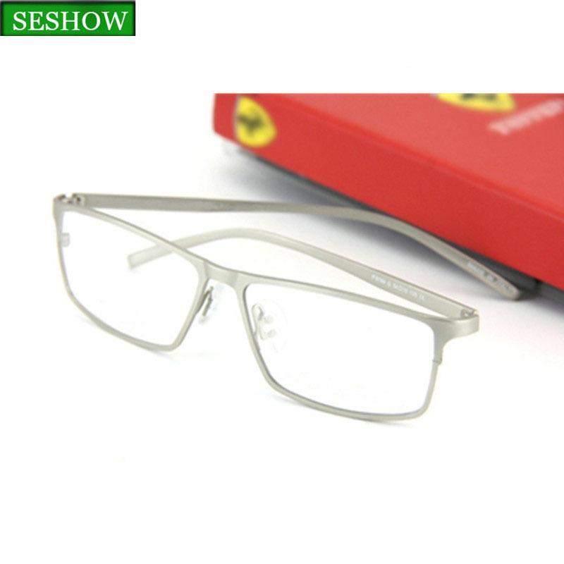 c96b465baa2 SESHOW New TR90 Men s Glasses Frame Retro Design Brand Metal Half ...