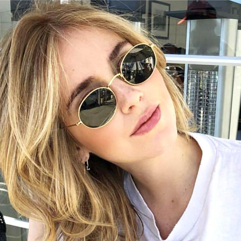 f8459b06fe5bf Retro Oval Sunglasses Women Famous Brand Small Gold Black 2018 Round Sun  Slasses Female Pink Red Eyewear Designer Shades Oculos Polarized Sunglasses  ...