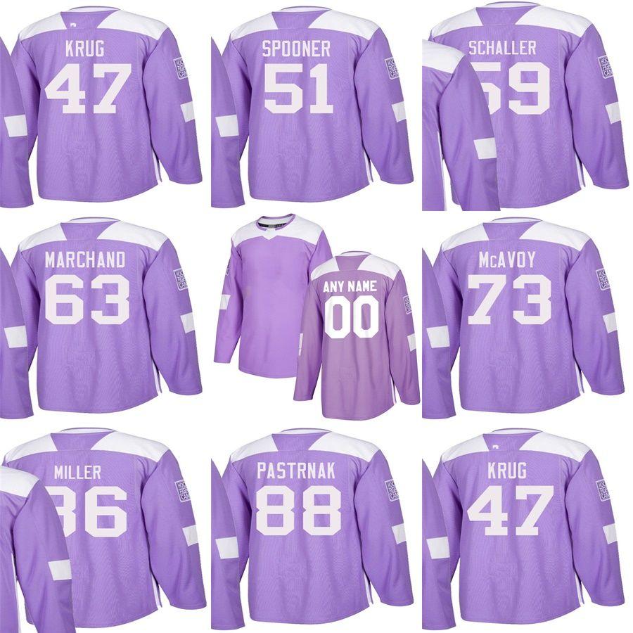 2019 Custom Mens Momens Kids Boston Bruins 47 Torey Krug 51 Ryan Spooner 86  Kevan Miller 88 David Pastrnak Purple Stitched Ice Hockey Jerseys From  Cbssport 9bf469f25