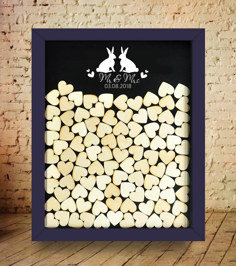 2019 White Rubbit Wedding Guest Book Alternatives Drop Box Frame3d