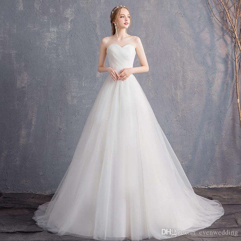 Discount Designer Wedding Gowns: Discount Simple Sweetheart Tulle Ball Gown Wedding Dresses