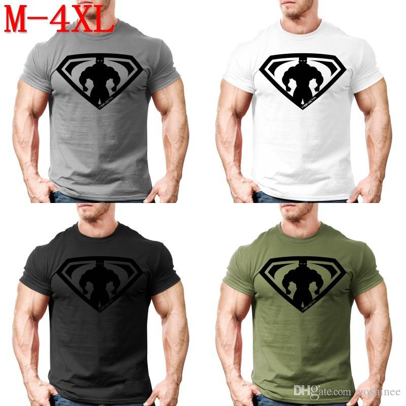 f22fba5cca940e Mens T Shirt Muscle Guys Golds Gyms Fitness Tops Bodybuilding Workout  Clothes 100% Cotton Superman T Shirts Plus Size M 4XL Business Shirt Retro  Tees From ...