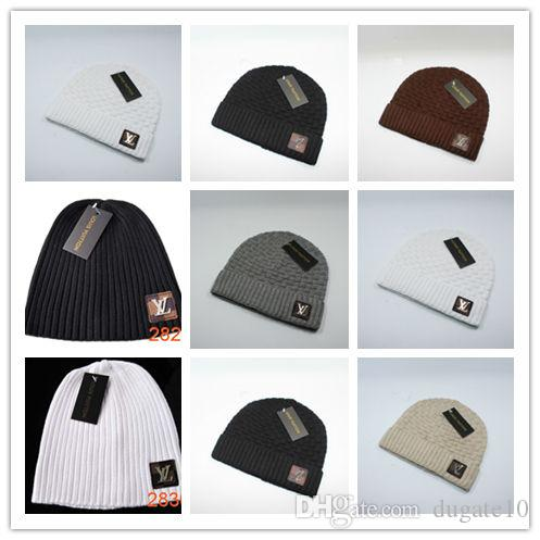 Wholesale Luxury Brands V Autumn Winter Unisex Wool Hat Fashion ... 79becd51a10e