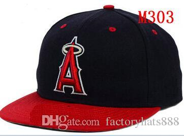 Fitted hats sunhat Angels Baseball Embroidered Team Letter Flat Brim Hats Baseball Size Caps Brands Sports Chapeu for men and women