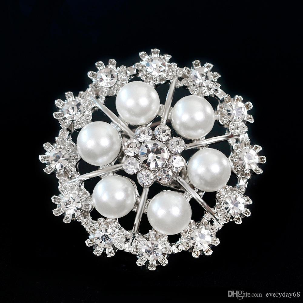 2018 New Arrival Brooch Jewelry Women Circle Shape Flower Pin Brooch