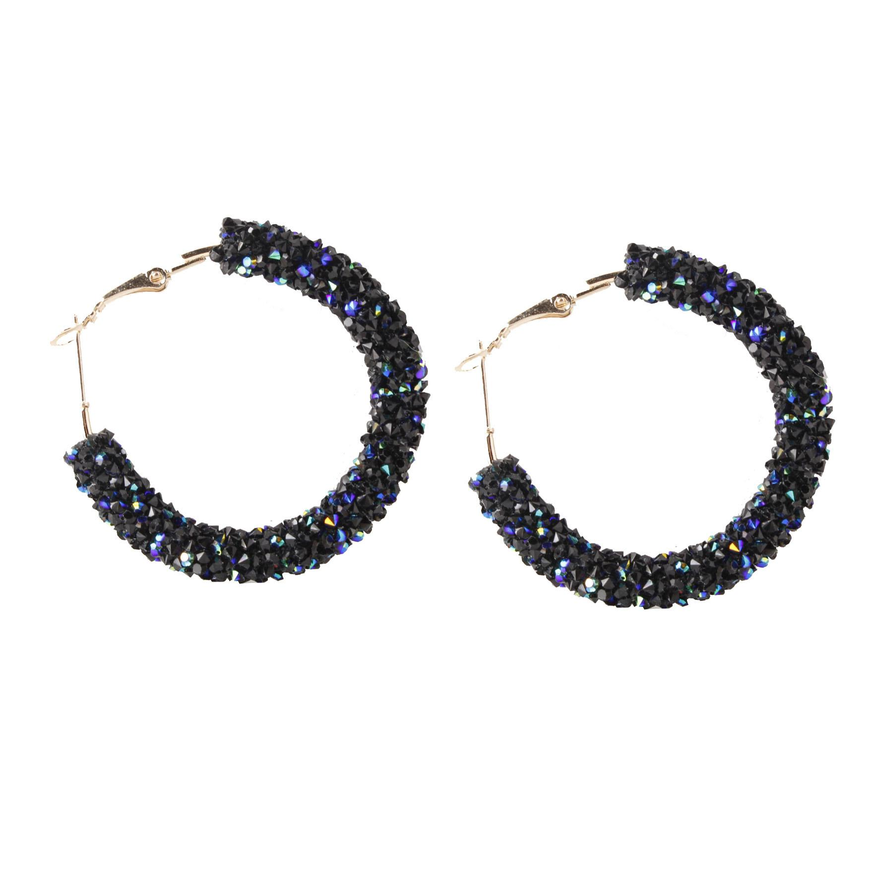 2019 2018 New Designer Crystal Rhinestone Earrings Personality Exaggeration  Geometric Circles Big Earrings Women Fashion Jewelry From Blackfridayes 1af51be8a44d