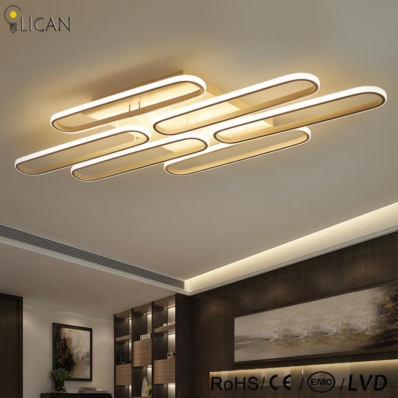2018 Lican Avize Luminaire Plafonnier Modern Led Ceiling Lights Living Room Bedroom Decor Dimming White Acrylic Lamp From Grege