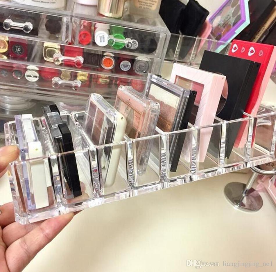 Acrílico Cosméticos Maquillaje Organizador Mostrar Estante Estante Escritorio Duradero Esmalte de uñas Barra de labios Caja de almacenamiento Organizador de escritorio OOA4634