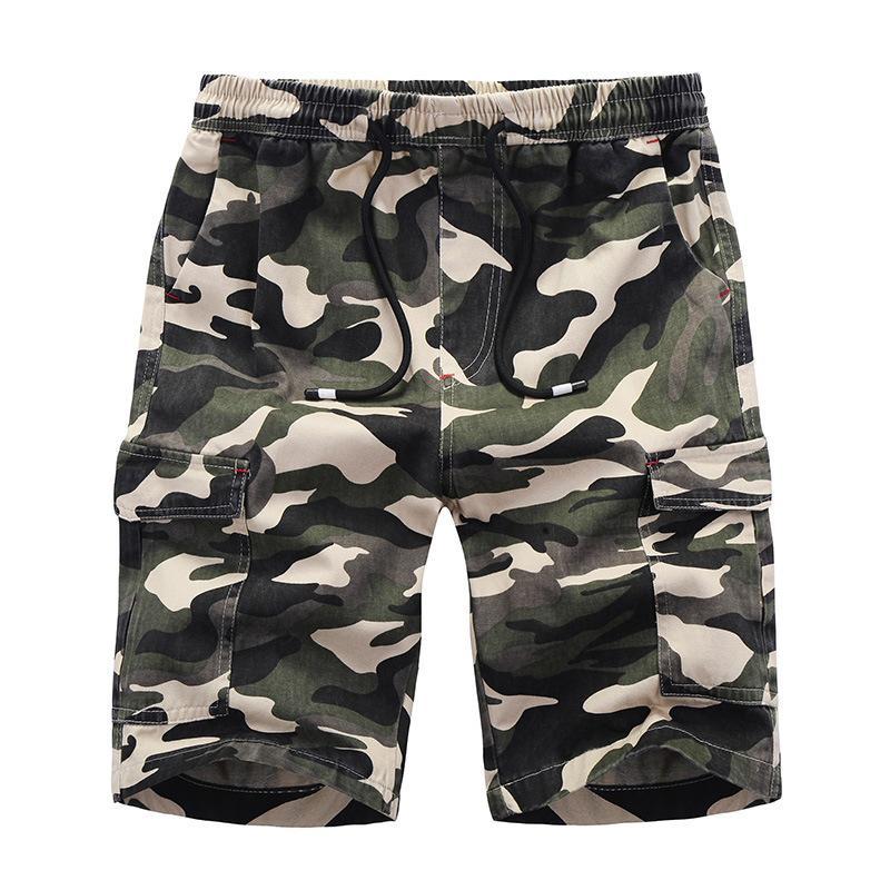 b423e9e2c4 Compre Camuflagem Carga Solta Shorts Homens Calças Camo Calças Curtas De  Verão Fresco Venda Quente Calções Cargo Homme De Xunmi