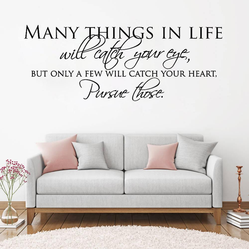 English Letters Many Things In Life Wall Sticker For Living Room Bedroom Home Wall Decoration